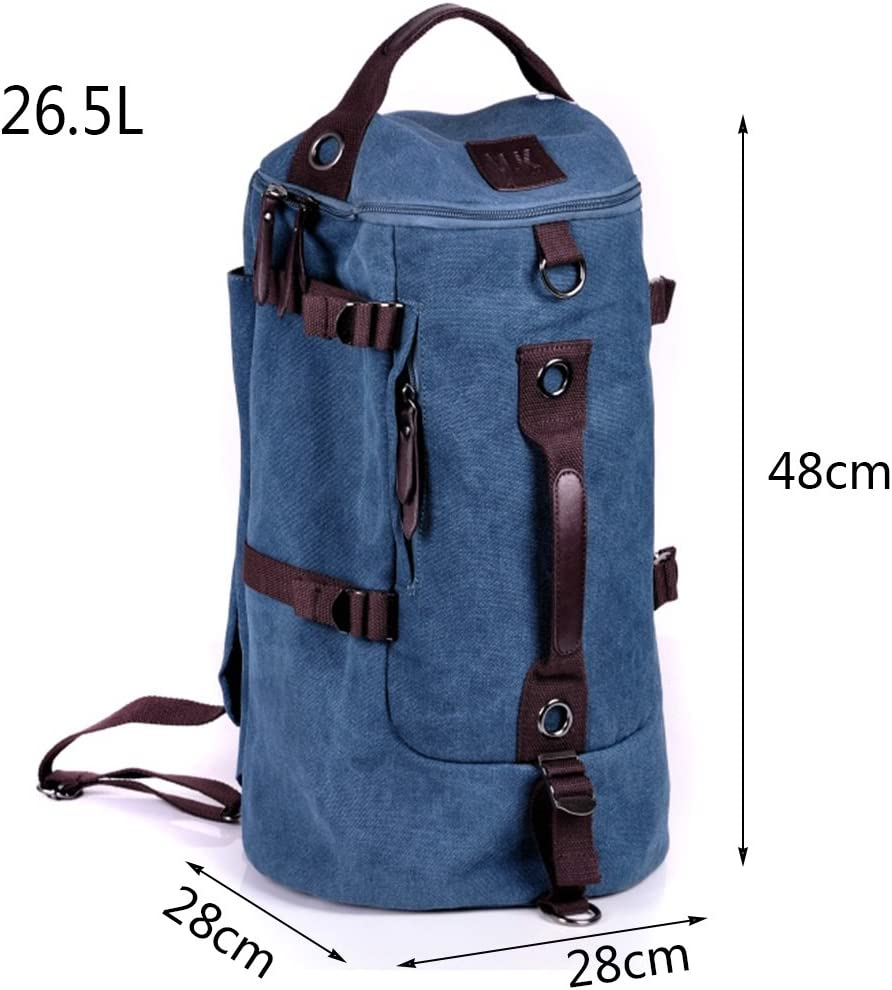 AAA Bucket bag large-capacity leisure bag outdoor travel multi-function backpack Color : Blue