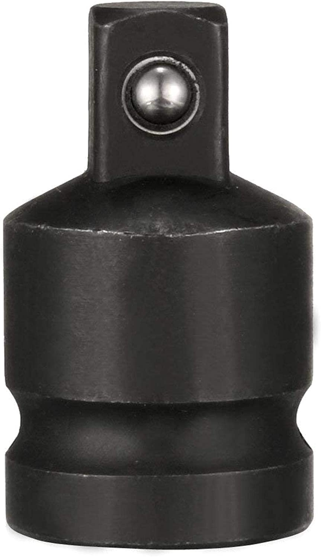 a 3//4 Pulgadas F LAQI 1//2 F to 3//8 M 1pcs M Barra de extensi/ón CR-MO Adaptador de Llave de Vaso de Impacto de 1//2 Pulgadas Color Negro