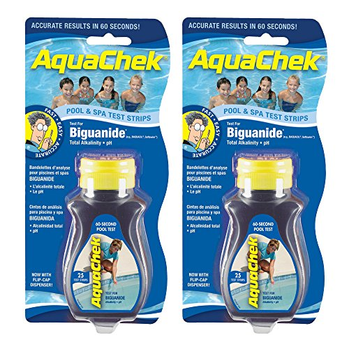 AquaChek 561625-02 Biguanide Test Strips for Swimming Pools, 25-Count, 2-Pack