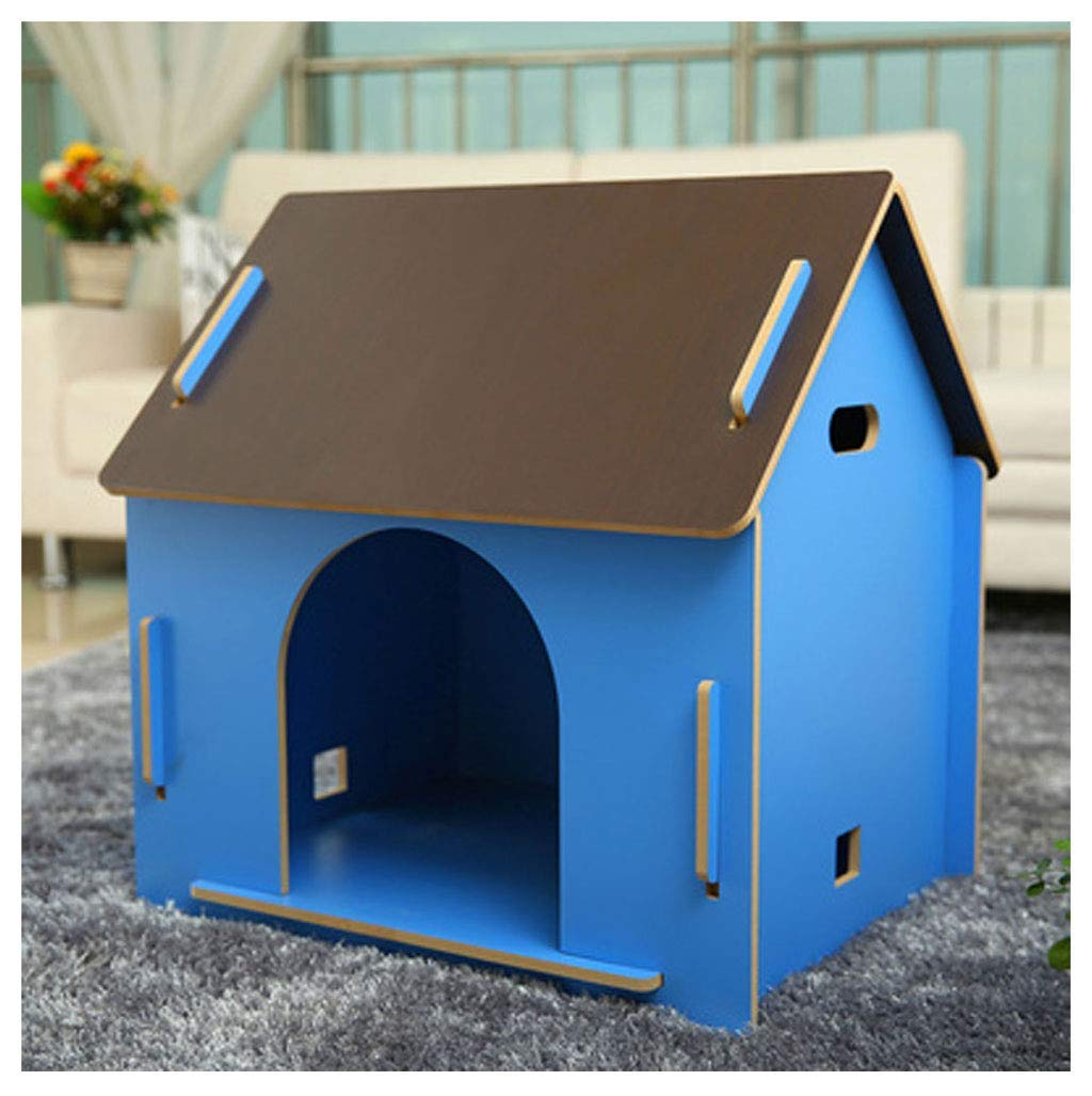 No Door Medium No Door Medium ATR Removable dog kennel made of wood, for pets has a home, bluee color (multi-style and multi-size optional) (color  no door, size  medium)