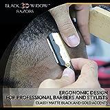 Barber Straight Razor, Professional Barber Straight Edge Razor - Barber Razor Compatible with Straight Razor Blade for Barber by Black Widow