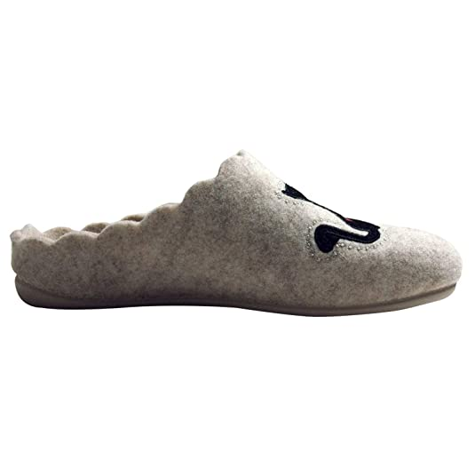Amazon.com | Calzamur Womens Slippers 66090017, Gray, Cats in Love | Slippers
