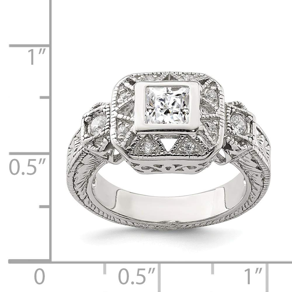925 Sterling Silver Cubic Zirconia Cz Antique Style Band Ring Fine Jewelry For Women Gift Set