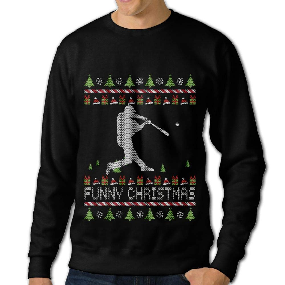 LLiYing-D Baseball Happy Christmas Adult Mens Fashion Long Sleeve Hoody T Shirts