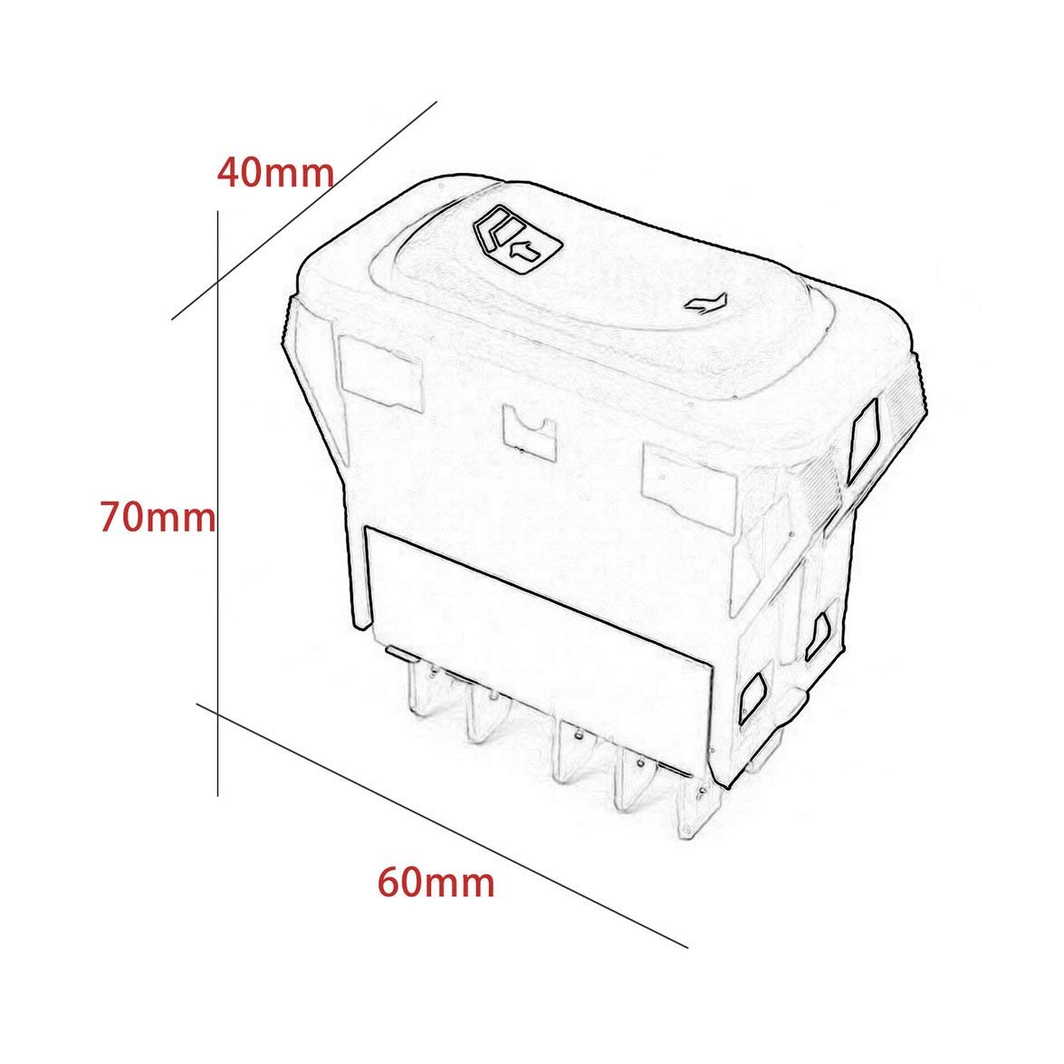 A06-30769-027for Freightliner Columbia Automotive Glass Lift Switch