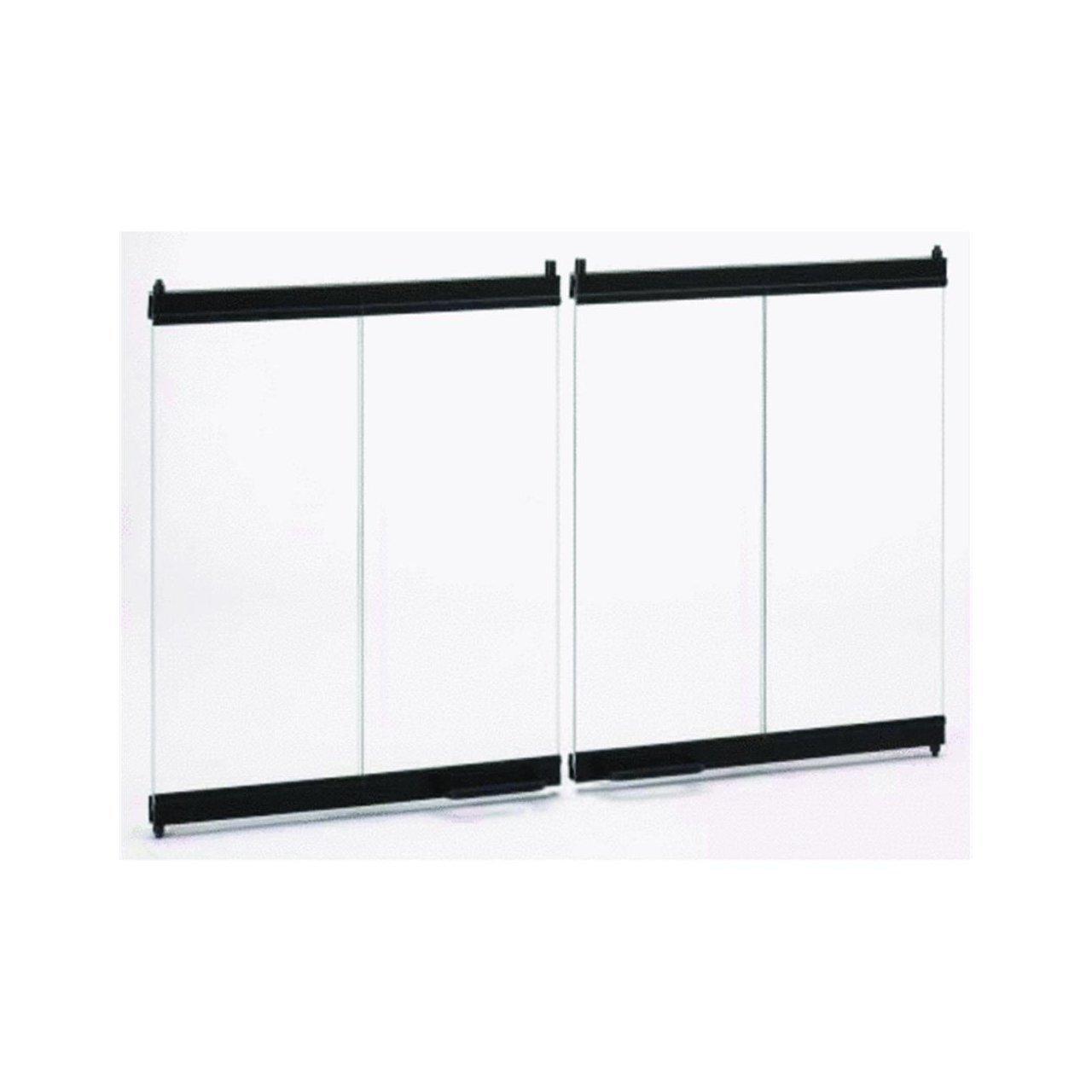 amazon com temco majestic bi fold glass fireplace doors 42 x 23