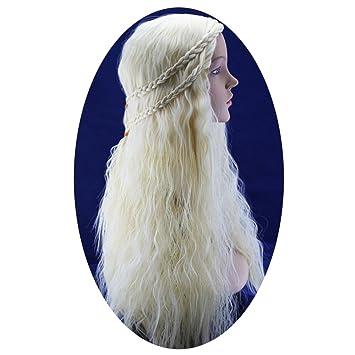 De Juego de Tronos GOT canción de hielo y fuego Emilia Clarke dragón Madre estilo peluca