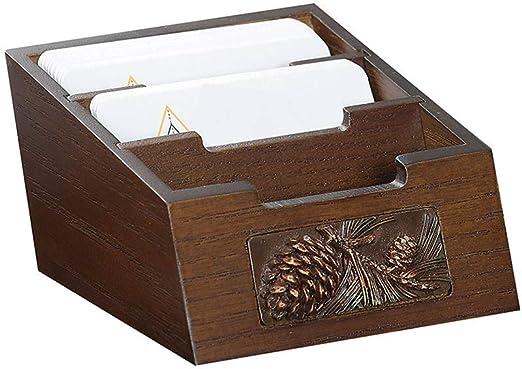HXF- Carpeta Caja de Almacenamiento Creativa del Titular de la Tarjeta de Visita del Escritorio Conveniencia: Amazon.es: Hogar