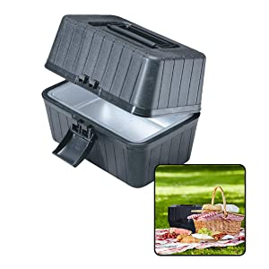 VaygWay 12V Portable Car Stove - Food Warmer Oven Box Cooking- Travel Camping Accessories Lunch Box- Baby Food Heating Handy Cooker- Universal Truck SUV RV Car