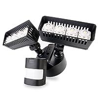 Sansi Nouvelle technologie projecteur LED extérieur détecteur de mouvement 30w, 3400lm, lumière du jour 5000K, noir