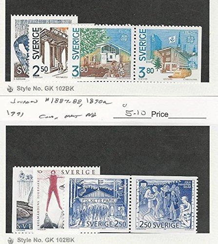 Sweden, Postage Stamp, 1809-1812, 1887-1888, 1890a Mint NH, 1990-91