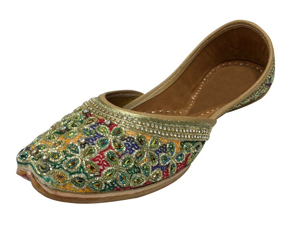Step n Style Punjabi Jutti Khussa Shoes Dress Shoes Pakistani Jutti Wedding Shoes by Step n Style