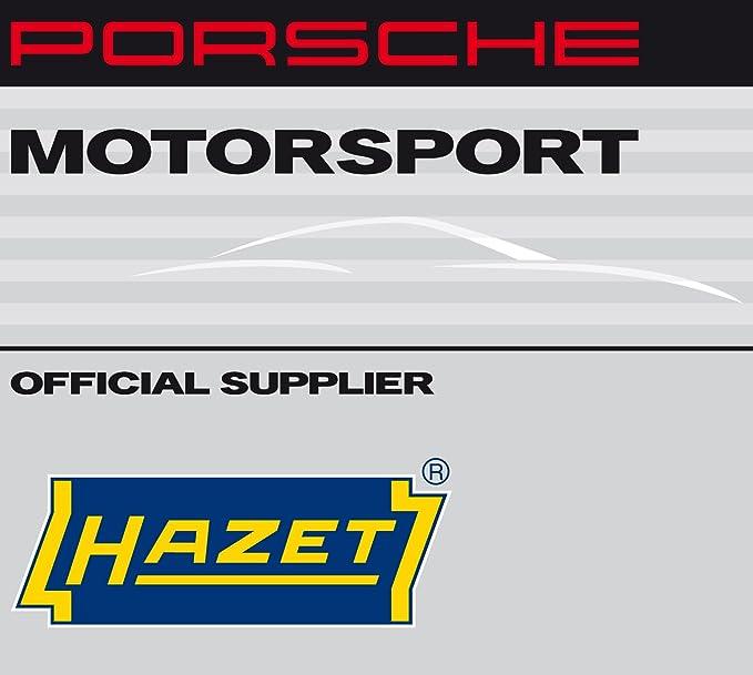 Hazet Impacto de Aire Comprimido (Porsche Motor Sport Diseño, extra corta (92 mm), Max. Resuelve Momento 1100 nm, cuadrado, 12,5 mm (1/2 pulgadas), ...