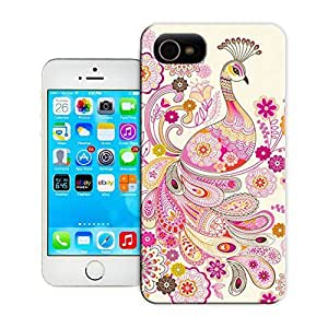 Unique Phone Case Pink Peacock Nursery Art_original Hard Cover for iPhone 4/4s cases-buythecase