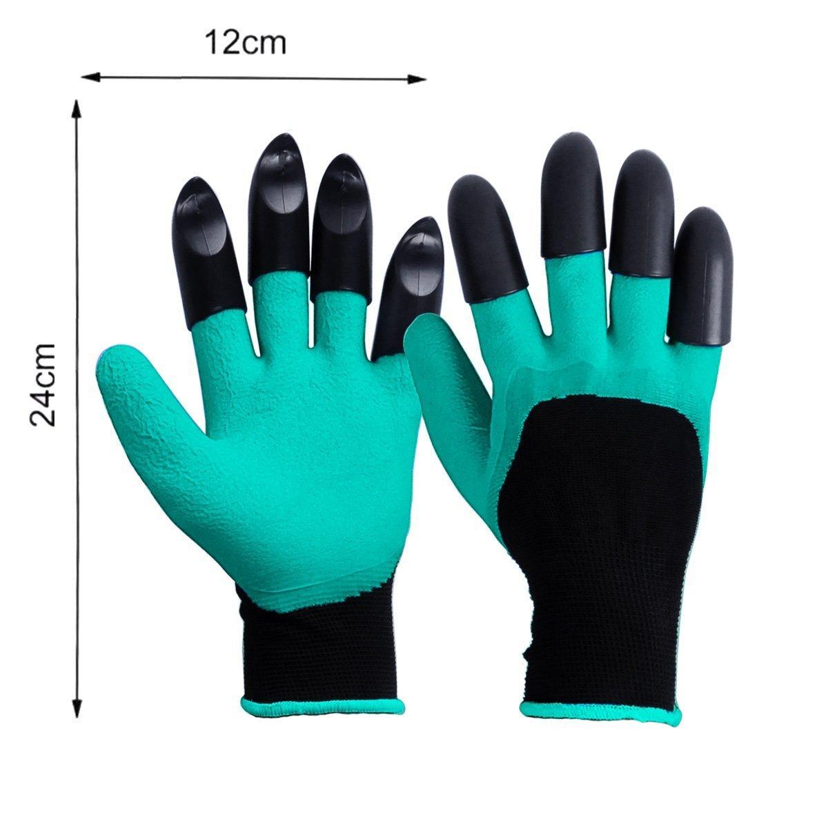 Arbeitsschutz Gartenhandschuhe mit Fingerspitzen Pflanzen Gartenger/äte Handschuhe