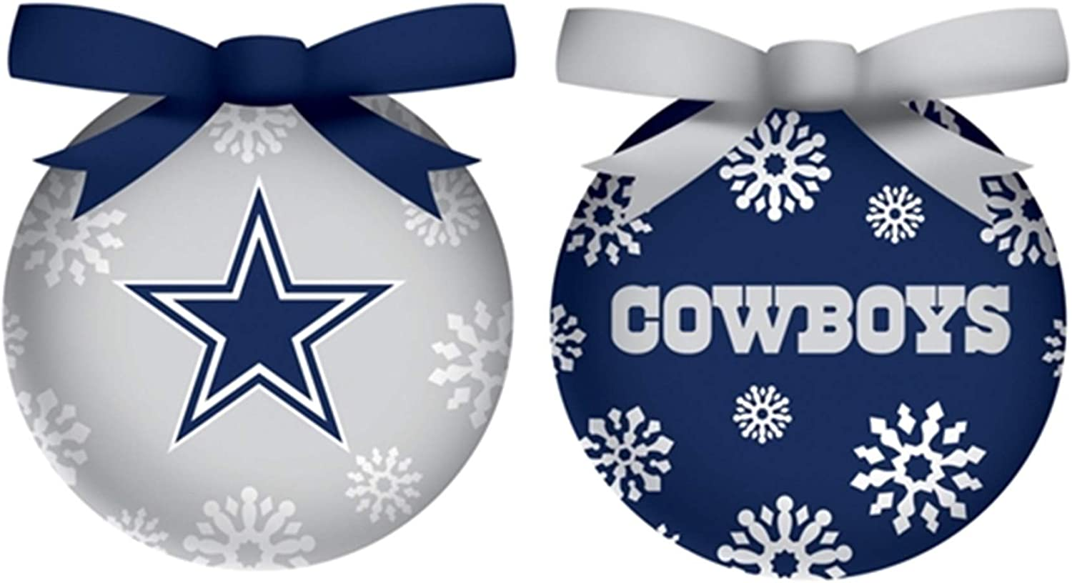 Team Sports America LED Boxed Ornament Set Dallas Cowboys