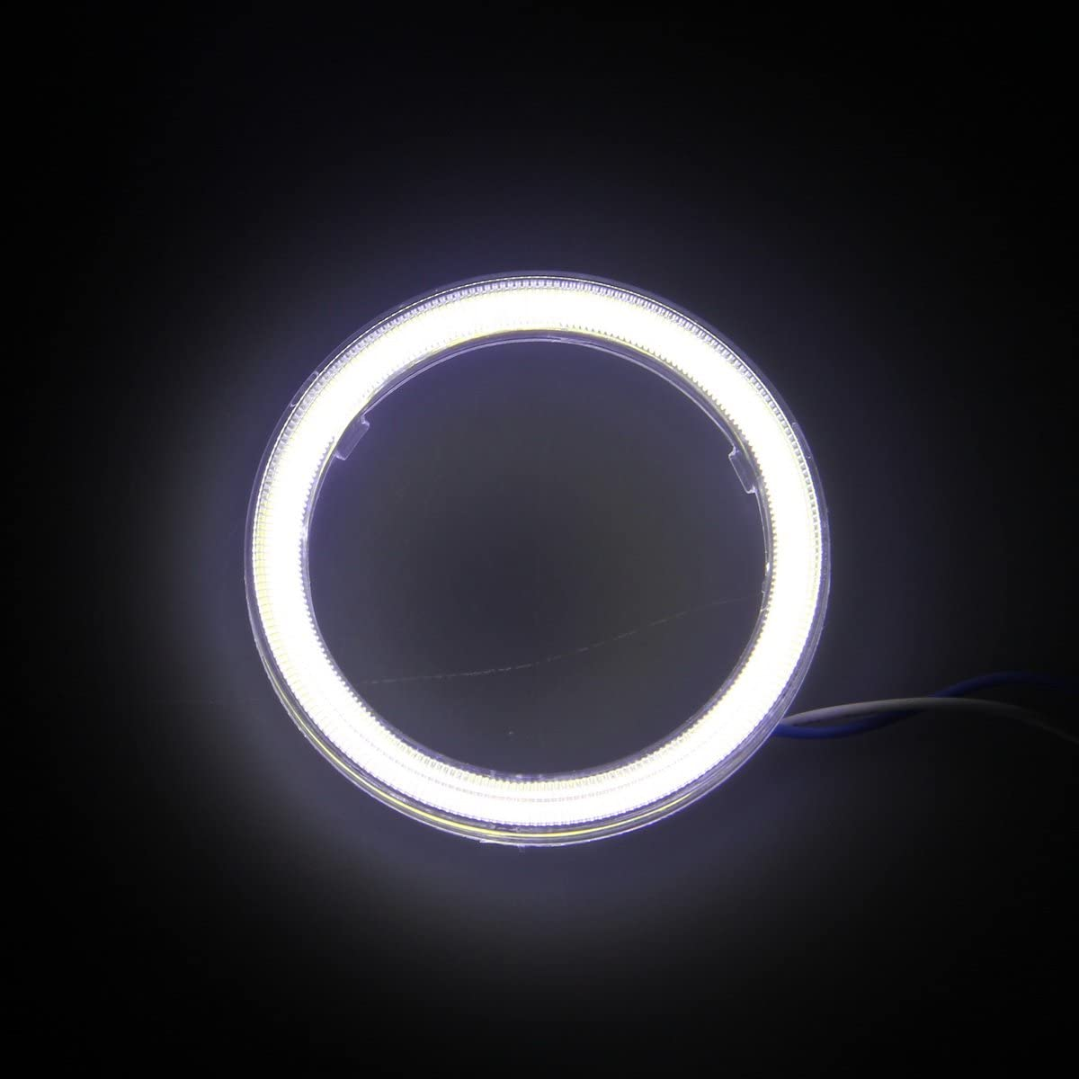 Possbay 60mm Car Angel Eyes Light Headlight LED Halo Ring Lamp 66 SMD Chip with Cover