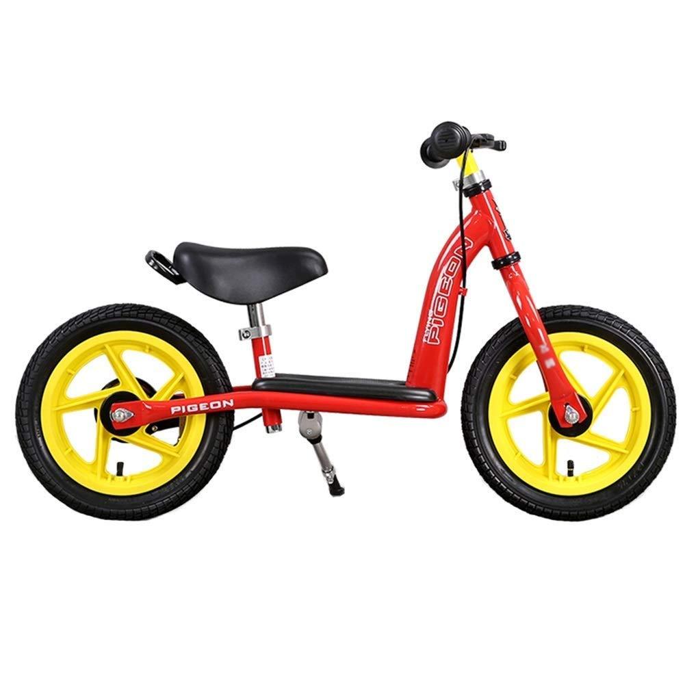 2、3、4、5、6歳用手動ブレーキ付きバランシングバイク、空気入りタイヤ、アジャスタブルハンドルバー、パッド入りシート、ランニングバイク、ペダルなし、赤 ZHAOFENGMING (Color : Red, Size : As shown) B07T97828G Red As shown