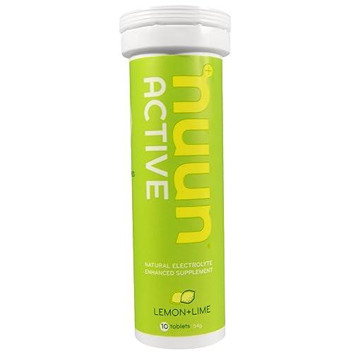 Active, Lemon+Lime, 10 Tablets - Nuun Hydration
