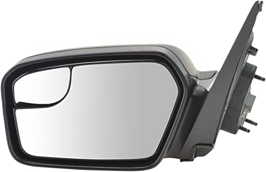 Amazon Com Power Blind Spot Glass Texture Black Mirror Lh Left Driver Side For Fusion Milan Automotive