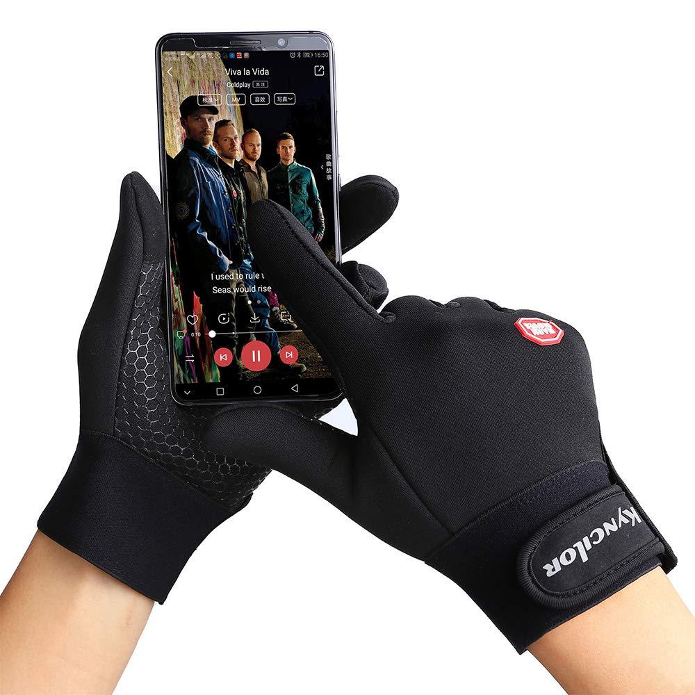 ZHLU Radfahrhandschuhe Wasserdicht Touch Screen M/änner und Frauen Winter Warm Plus Velvet Windproof Mountaining-Ski-Handschuhe,XL