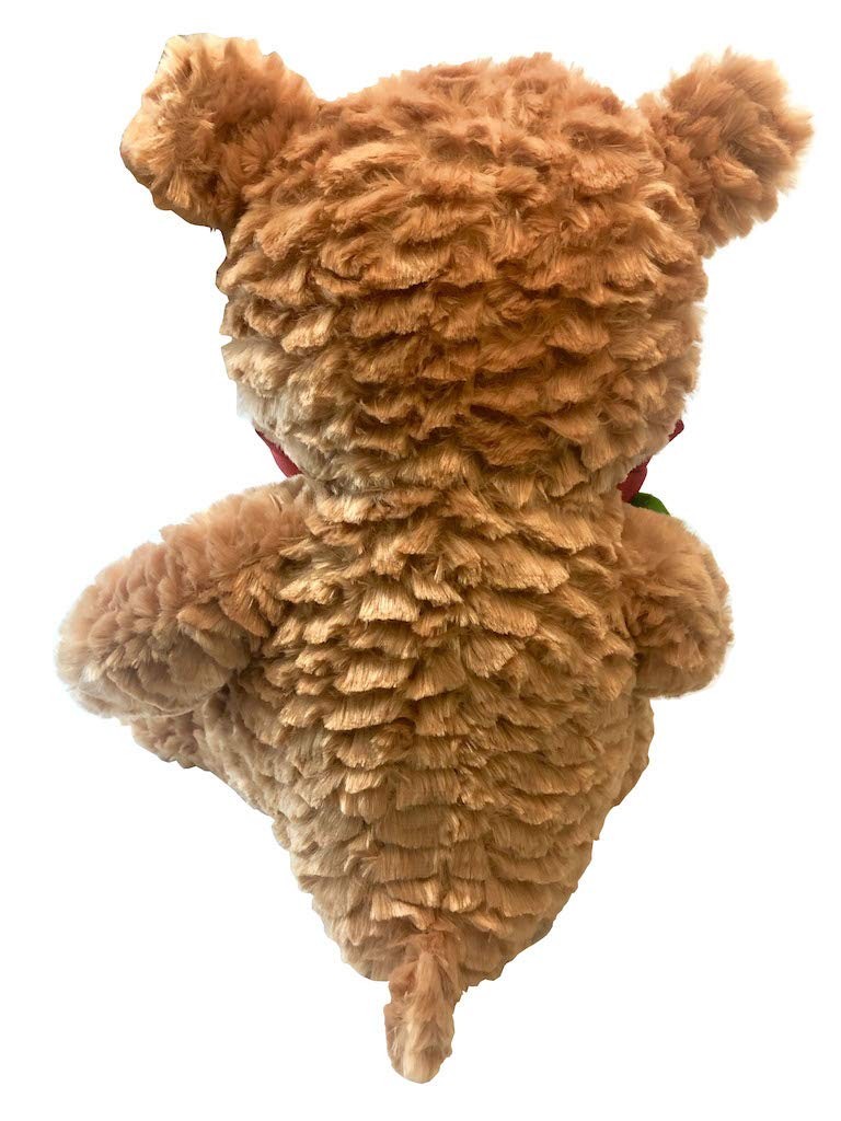 14 Kellytoy Brown Teddy Bear Plush with Rose