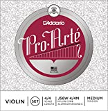 D\'Addario Pro-Arte Violin String Set with Wound E, 4/4 Scale, Medium Tension