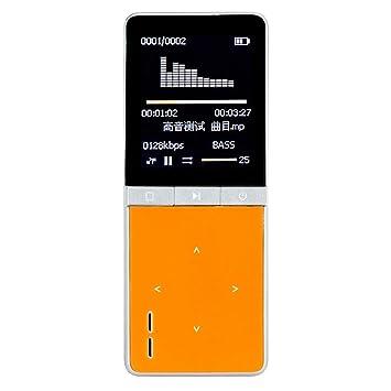 Onn w7 portable mp3 player with built in speaker fm amazon onn w7 portable mp3 player with built in speaker fm radio 8gb storage orange fandeluxe Gallery