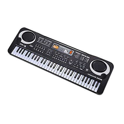 61 Teclas Música Electrónica Teclado Órgano Eléctrico Con Micrófono Instrumentos Musicales para Niños Instrumento Educativo Temprano