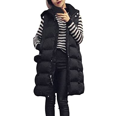 Venmo Abrigos de Mujer Invierno,Mujer Más el Tamaño Chaleco con Capucha Chaqueta Abrigo Parka Outwear