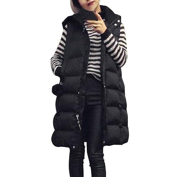Venmo Abrigos de Mujer Invierno, Mujer Más el Tamaño Chaleco con Capucha Chaqueta Abrigo Parka Outwear: Amazon.es: Ropa y accesorios