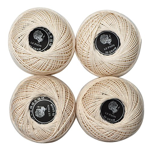 Natural Solid Color Cotton Thread Rope cotton Twine ball for sale,Premium perle cotton size 3 fashion Combed Mercerized Cotton Thread,lace floss (Color 14) (Floss Perle Cotton)