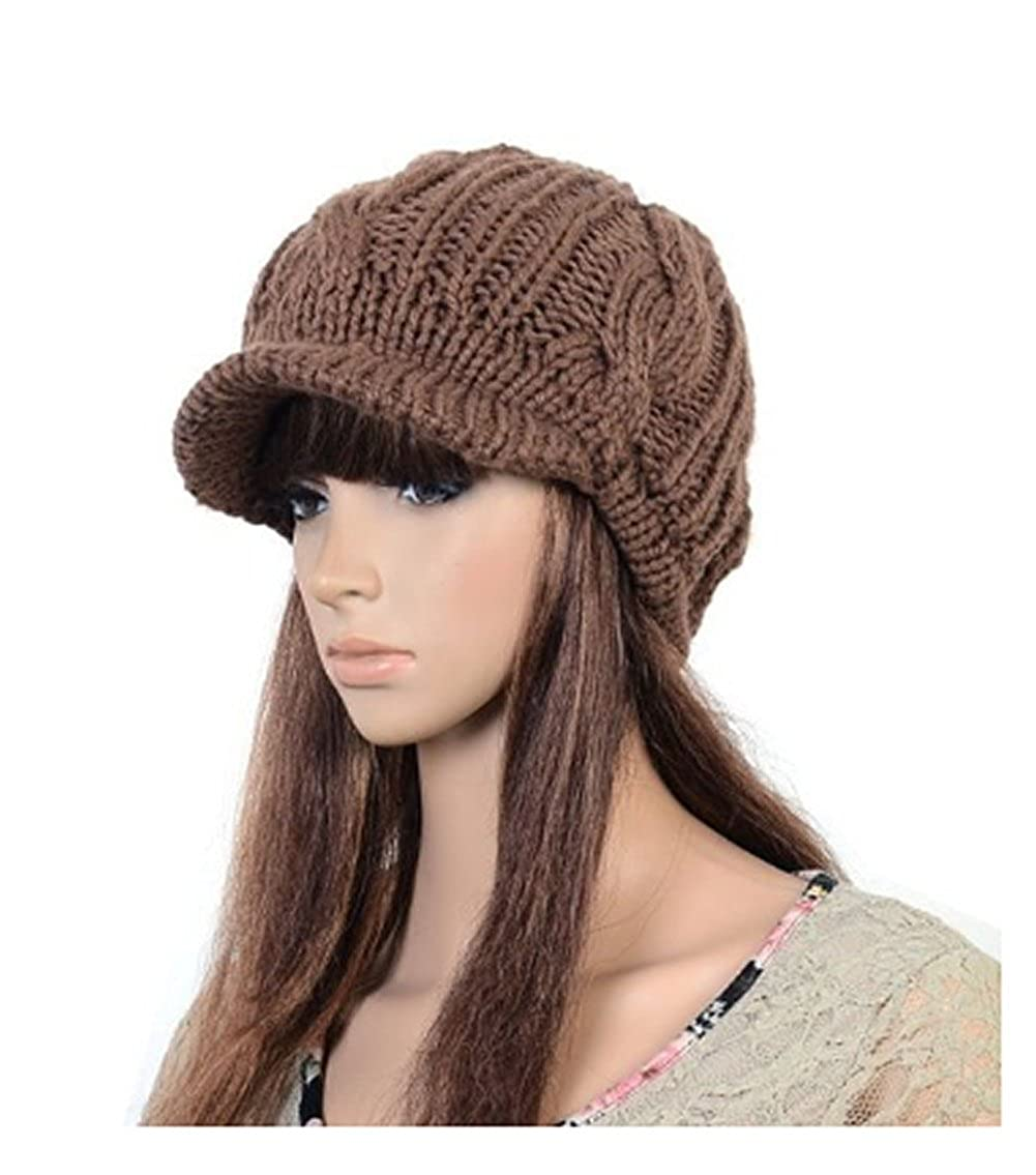 Losuya women girl fashion design drape layers beanie rib hat brim losuya women girl fashion design drape layers beanie rib hat brim visor cap beige at amazon womens clothing store bankloansurffo Gallery