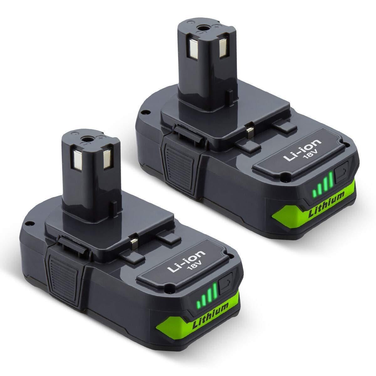 2 Baterias para Ryobi 18 Volt ONE P102 P103 P104 P105 P107