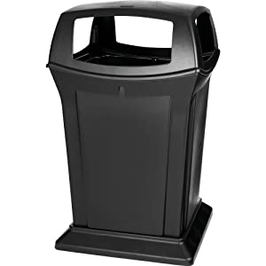 Rubbermaid Commercial Ranger Trash Can, 45 Gallon, Black, FG917388BLA