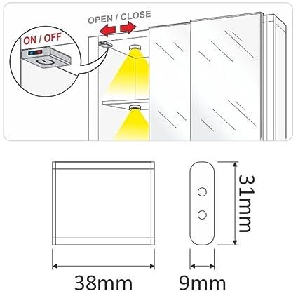 Mini montaje IR Detector de movimiento 12 V - Sensor de infrarrojos interruptor para LED Leuchten: Amazon.es: Iluminación