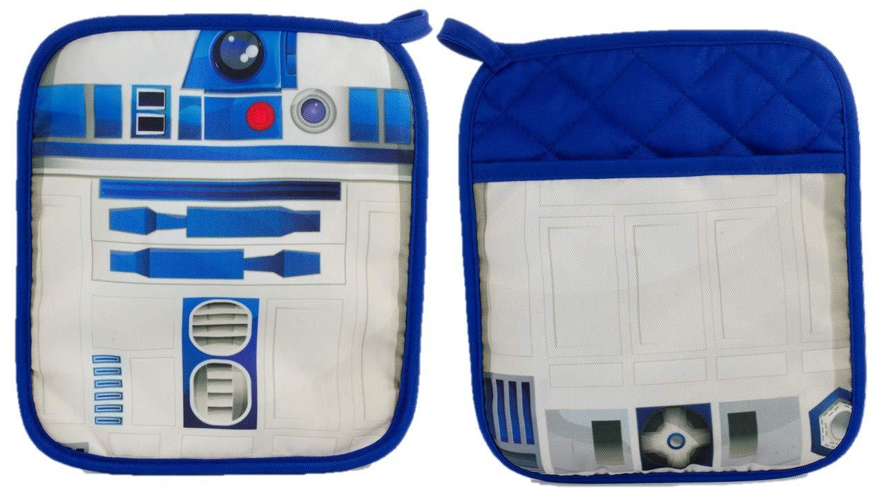 Star Wars R2-D2 Pot Holder Heat Resistant Coaster Potholder for Cooking and Baking (1 Pot Holder)