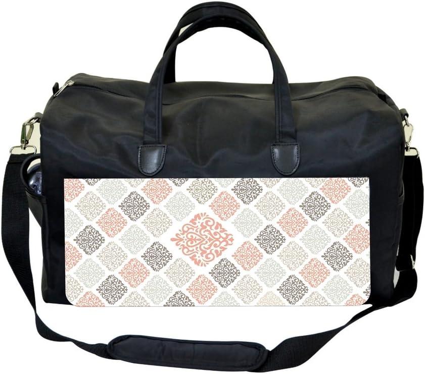 Orange Damask Pattern Sports Bag