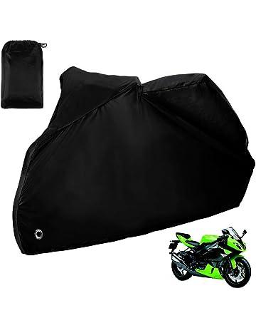 76ab0bae66c Zacro Funda para Moto/Cubierta de la Moto 190T Impermeable Cubierta  Protectora UV los Agujeros