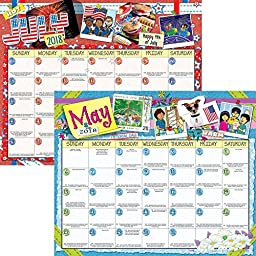 2017-2018 School Year Monthly Calendar -12 Loose Pages August to July