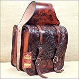 BG108AMF- HILASON WESTERN COWBOY TRAIL RIDE HORSE SADDLE BAG MAHOGANY