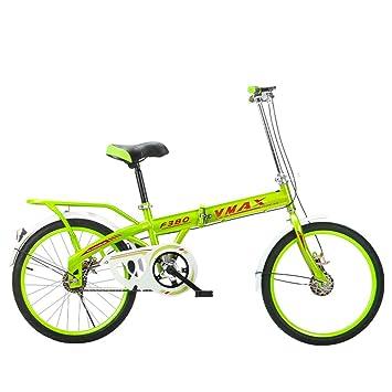 XQ F380 Bicicleta Plegable Ultraligero Portátil De 20 Pulgadas Bicicleta Individual De Velocidad Única (Color