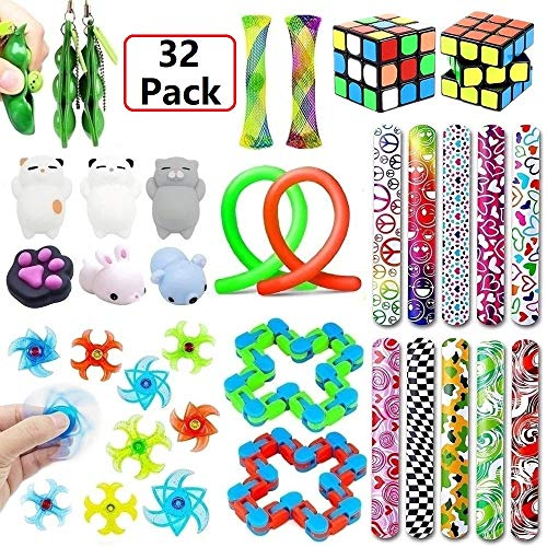 Fidget Toys Bundle Sensory Toys Set, Sensory Fidget and Squeeze Widget for Relaxing Therapy, Stress Relief Toys for Children and Adults with ADHD ADD Anxiety Autism (Toy Widgets)