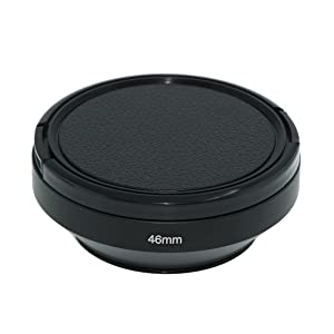 SIOTI Camera Wide Angle Metal Lens Hood with Cleaning Cloth and Lens Cap Compatible with Leica/Fuji/Nikon/Canon/Samsung Standard Thread Lens(46mm) (Color: Wide Angle, Tamaño: 46mm)