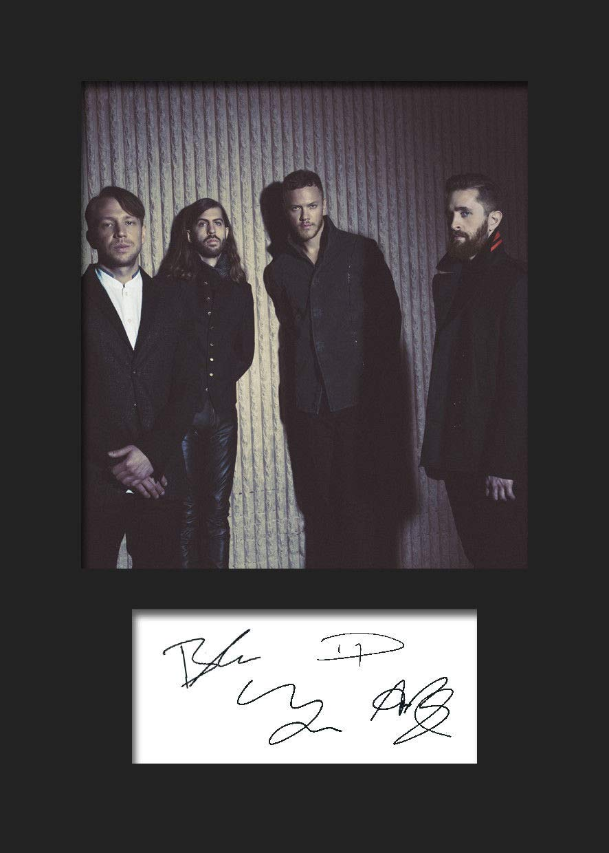 A5/ autografo stampa Imagine Dragons 2/  FBA