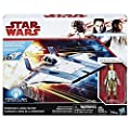 Star Wars Force Resistance A-Wing Fighter and Resistance Pilot Tallie Figure from Hasbro