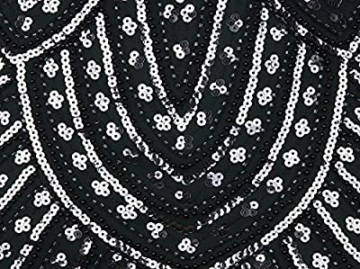 Vijiv 1920s Gown Gatsby Beaded Sequin Art Deco Long Flapper Evening Formal Dress