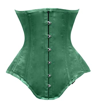 f8b01a3eb54 Amazon.com  luvsecretlingerie Heavy Duty 26 Double Steel Boned Waist  Training Satin Long Torso Underbust Shaper Corset  8551-OT-SA  Clothing