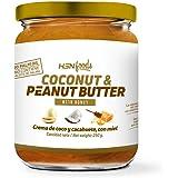 Mantequilla de Cacahuete con Coco y Miel de HSN Foods   100% Natural   Peanut Butter   Apto Vegetariano - Sin grasa de…