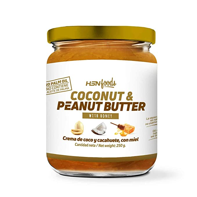Mantequilla de Cacahuete con Coco y Miel de HSN Foods | 100% Natural | Peanut ...